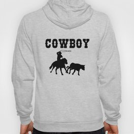 Cowboy Gift Maverick And Horse Lover Black Hoody