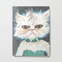 punk kitty Metal Print