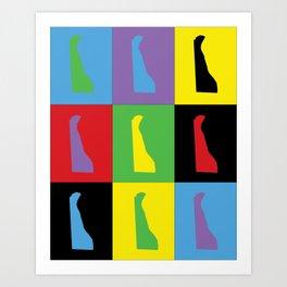 Delaware Pop Art Art Print