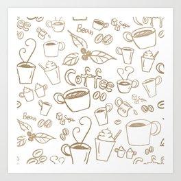 Coffee illustration Art Print