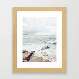 Wind and Sea Beach Framed Art Print