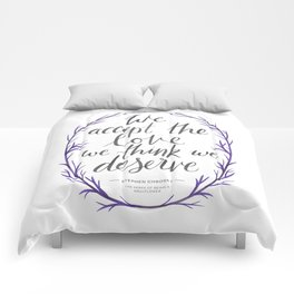 The Perks of Being a Wallflower quote Comforters