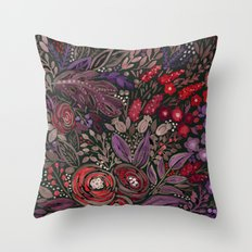 Watercolor floral illustration Throw Pillow