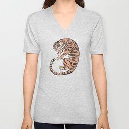 Another Tiger in Asian Style Unisex V-Neck