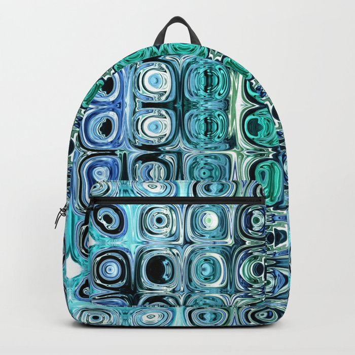 Turquoise And Teal Reflections Backpack