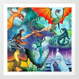 Wings of Fire - All Together Art Print