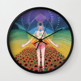Chakras Wall Clock