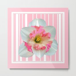 PINK ECTACY FLORAL PATTERNS Metal Print
