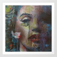 goddess Art Prints featuring Goddess by Paul Lovering Watercolors