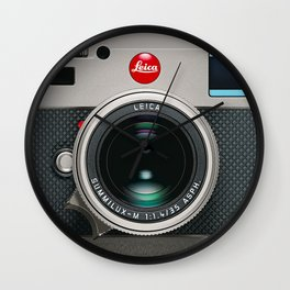 Leica Camera M9 Silver Wall Clock