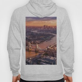 Sunset over London Cityscape (Color) Hoody
