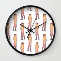 chameleon Wall Clocks featuring Chameleon by Julianne Ess