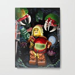 LEGO Metroid!! Metal Print