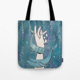 Poseidon's Whales Tote Bag