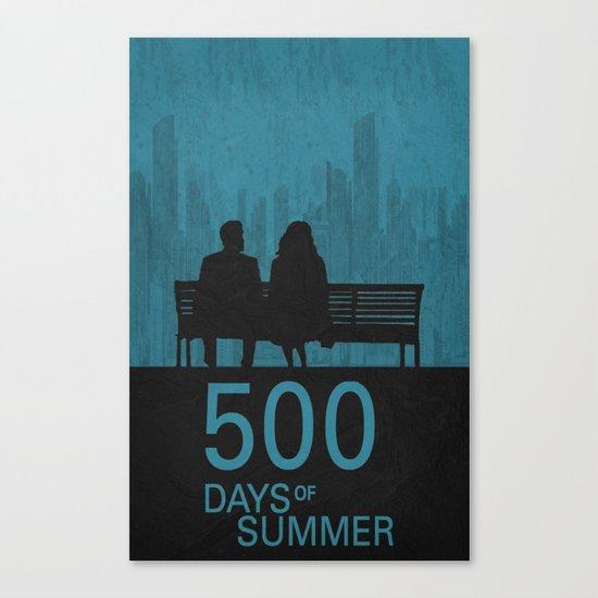 500 Days Poster Canvas Print