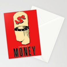 For The Love of Money Is A Root of All Evil Stationery Cards