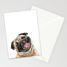Happy Laughing Pug Stationery Cards