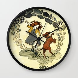 Puddle Hoppers Wall Clock