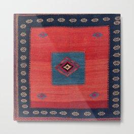 Ashar Ru Khorsi Kerman South Persian Blanket Print Metal Print