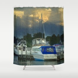 Dramatic sky Shower Curtain