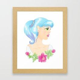 Pretty Girl Framed Art Print