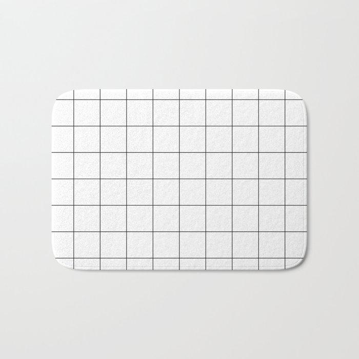 White Grid  /// www.pencilmeinstationery.com Bath Mat
