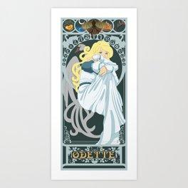 Odette Nouveau - Swan Princess Art Print