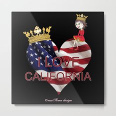 Lisy Loves California Metal Print