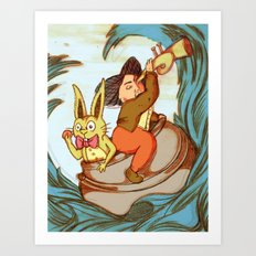 Cauldron in the Sea Art Print
