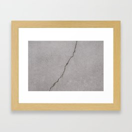 cracked concrete texture - cement stone Framed Art Print