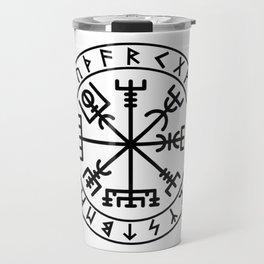 Vegvisir with futhark Travel Mug