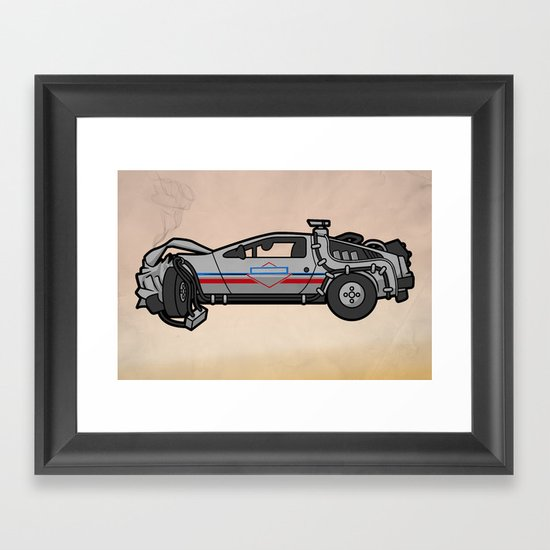 licensed to hill valley. Framed Art Print