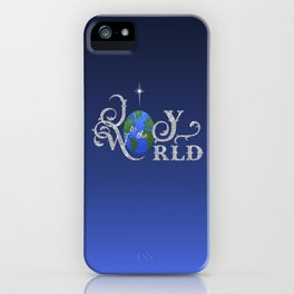 Joy to the World Silver iPhone Case