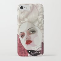 marie antoinette iPhone & iPod Cases featuring Marie Antoinette by MORPHEUS