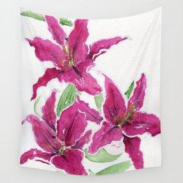 Sumatra Lilies Wall Tapestry