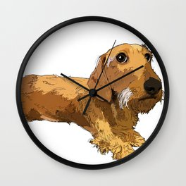 Hans the dachshund Wall Clock