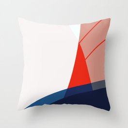 Red sails abstract Throw Pillow