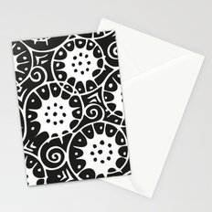Black and White Swirl Pattern Stationery Cards