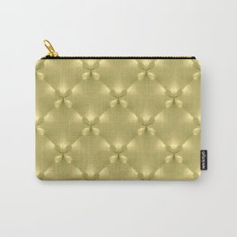 Bright Gold Studded Quilt Repeat Pattern Carry-All Pouch