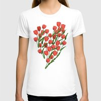 tulips T-shirts featuring Tulips by June Chang Studio