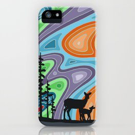 I Met My Deerest by the Forest's Edge iPhone Case