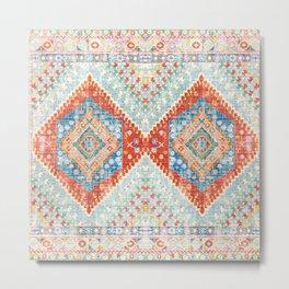 Heritage Multicolore Rug  Metal Print