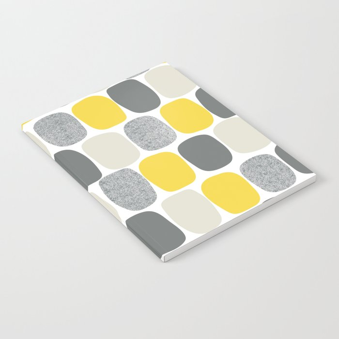 Wonky Ovals in Yellow Notebook