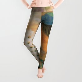 Peacocks In Paradise Vintage Oriental Art Leggings