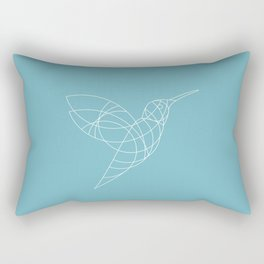 Geo Hummingbird Rectangular Pillow