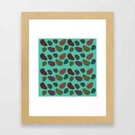 420 Nug Pattern Framed Art Print