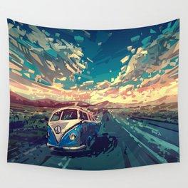 summer road landscape Wall Tapestry