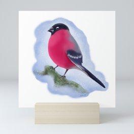 Bullfinch - simple drawing Mini Art Print
