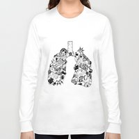 lungs Long Sleeve T-shirts featuring LUNGS by AA / Anaïs Dedit