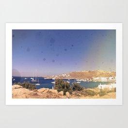 Burning Mykonos Art Print